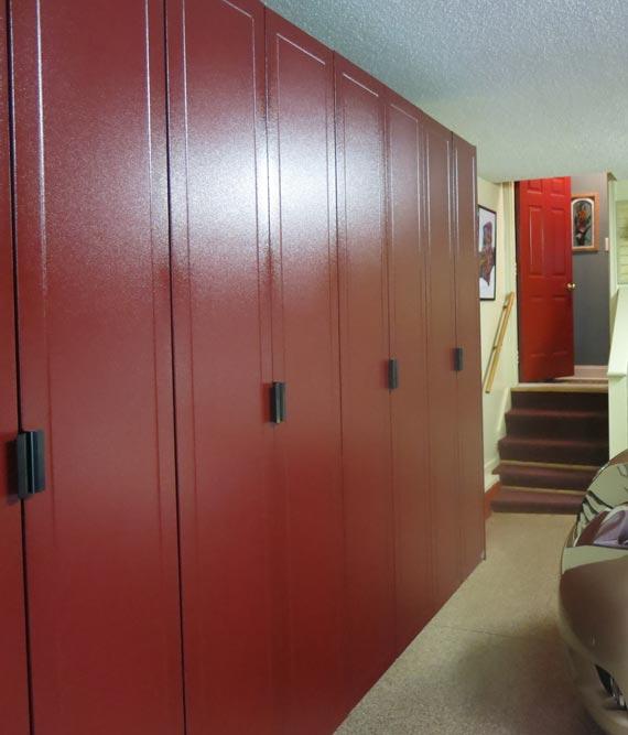 Garage closet organizer
