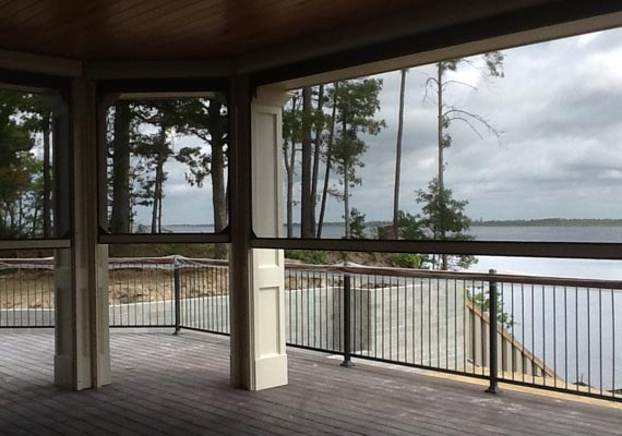 Residential deck porch screens